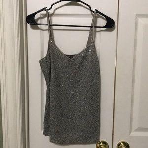Sexy, gray, Express sequins cami, NWT.